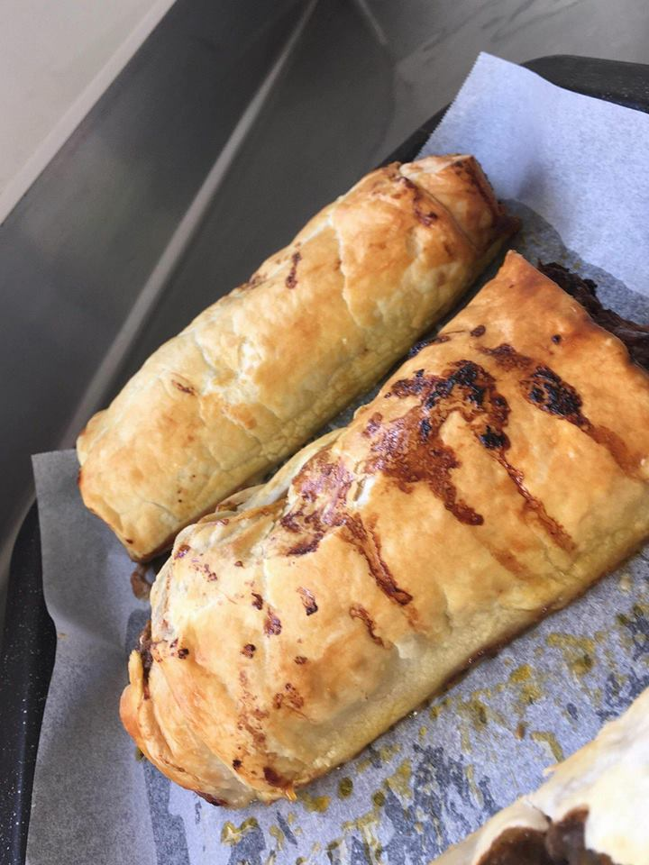 Chelsea Winter's sausage rolls